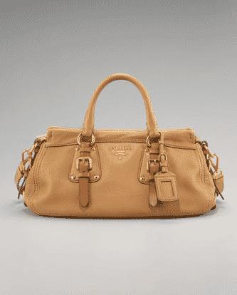 82984b458d Il catalogo di borse Prada della collezione primavera estate 2011 è ricco  di molte proposte in pelle liscia blu, panna, beige e di tante borse in  tela.