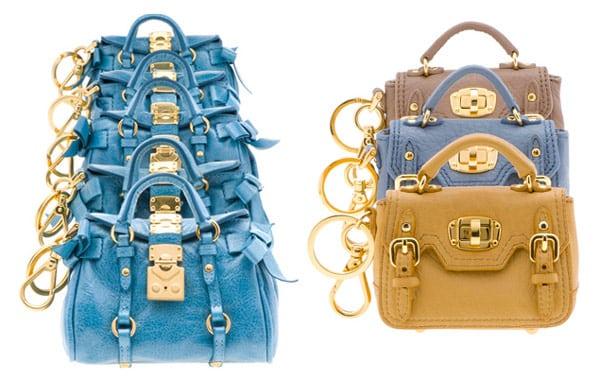 Miu miu borse 2011 shop online portachiavi charms per - Divano fendi prezzo ...