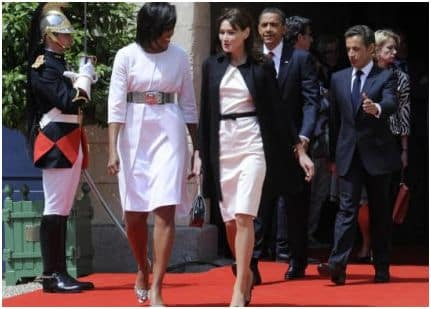 michelle obama carla bruni incinta chanel