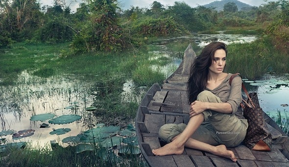 angelina jolie louis vuitton campagna advertising