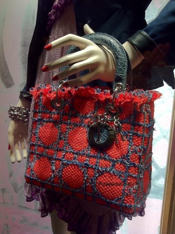 borse dior 2011 estate lady dior rossa