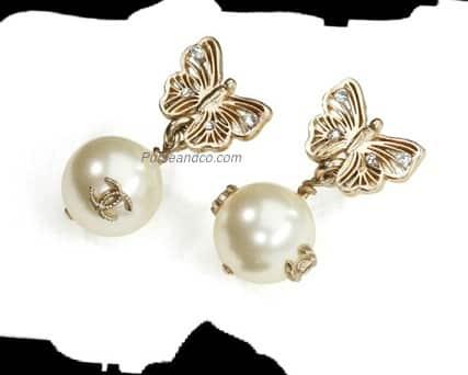 vivido e di grande stile ineguagliabile vendita più economica Orecchini di perle Chanel