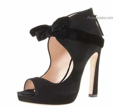 scarpe nere inverno 2012 fiocco spuntate
