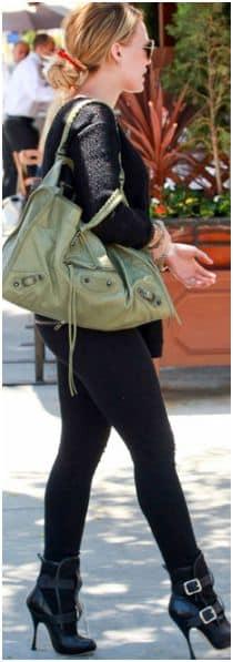 borsa balenciaga verde