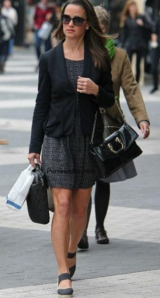 Pippa Middleton borsa Bulgari pitone