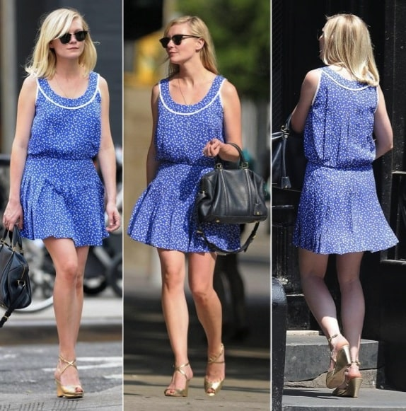 Kirsten Dunst con bauletto Louis Vuitton