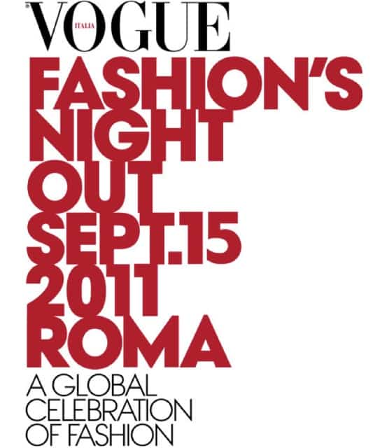 Vogue Fashion's Night Out 2011 Roma 15 settembre