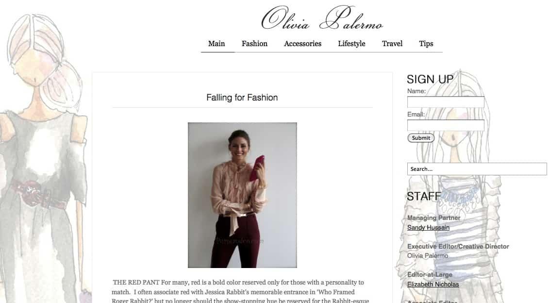 Blog di Olivia Palermo