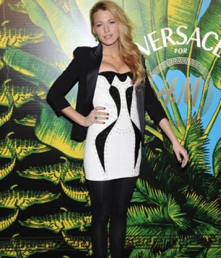 Blake Lively al party Versace per H&M