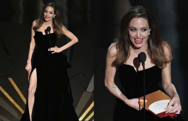 Angelina Jolie in Atelier Versace a Los Angeles