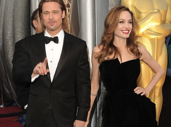 Angelina Jolie e Brad Pitt agli Oscar 2012