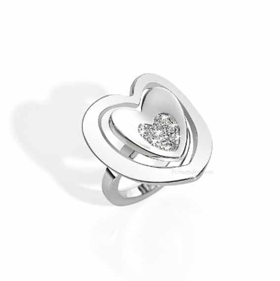 Gioielli Morellato, anello cuore