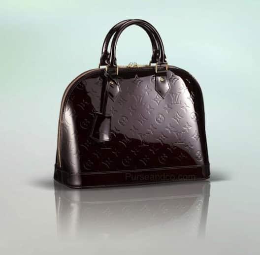 Borsa Louis Vuitton Alma colore nera amaranto