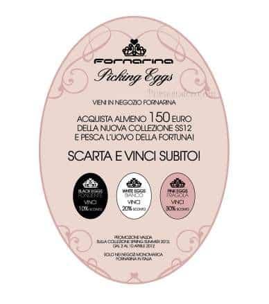 Pasqua 2012, promozione Fornarina