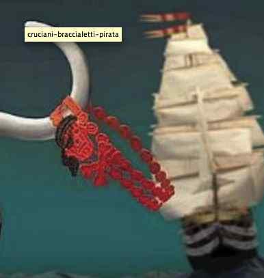Braccialetti Cruciani pirata