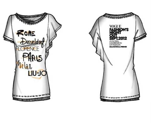 T-shirt limited edition Liu Jo per la VFNO 2012