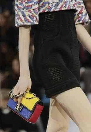 Chanel borsa matelassè colorata con catenina