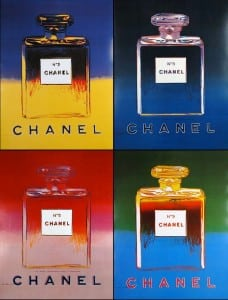 andy warhol chanel n°5 icona
