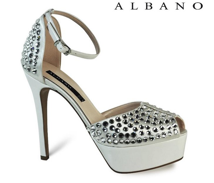 scarpe da sposa albano primavera estate 2013 sandalo plateau