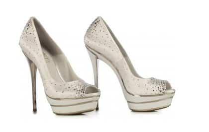 scarpe da sposa loriblu primavera estate 2013 scarpe open toe borchie e strass