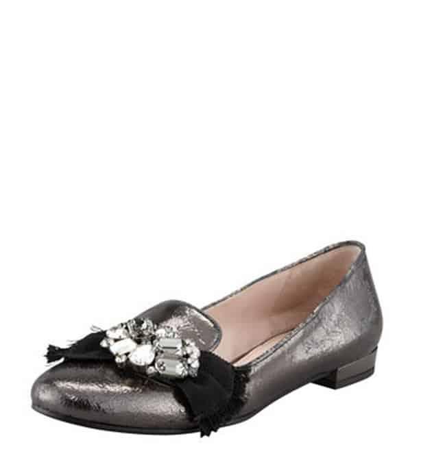 scarpe miu miu autunno inverno 2013 2014 ballerina gioiello