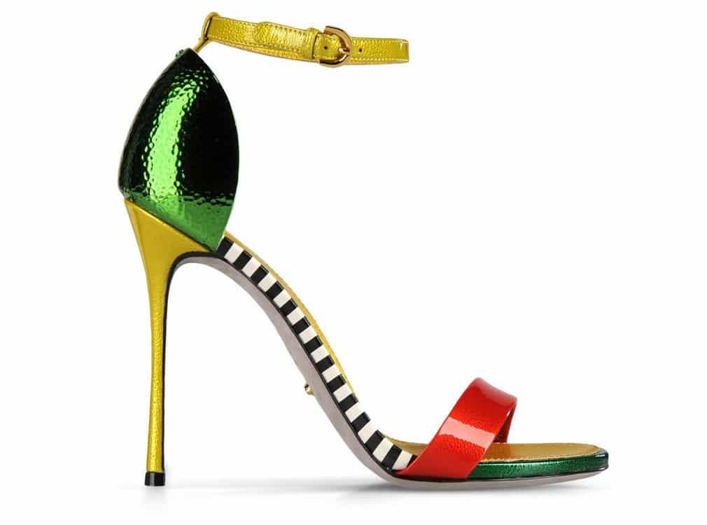 scarpe sergio rossi estate 2013 color flash multicolor