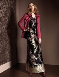 collezione autunno inverno 2013 2014 Liu Jo abbigiliamento abito lungo  floreale cb207e8790a