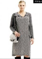 collezione marina rinaldi autunno inverno 2013 2014 abito black white