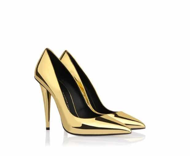 scarpe giuseppe zanotti autunno inverno 2013 2014 decollete oro