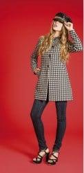 artigli abbigliamento autunno inverno 2013 2014 cappotto pied de poule