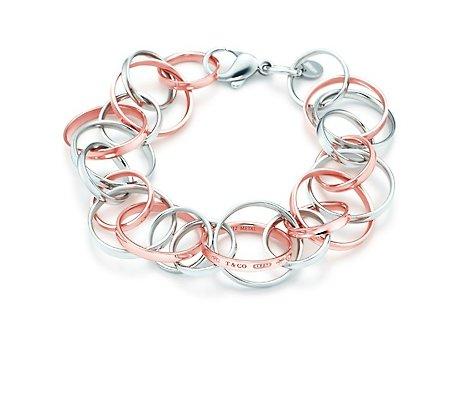 bracciale Tiffany argento e rosa