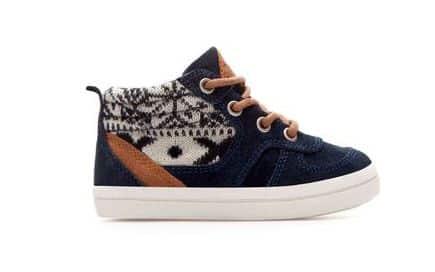scarpa basket con lana 25.95 euro