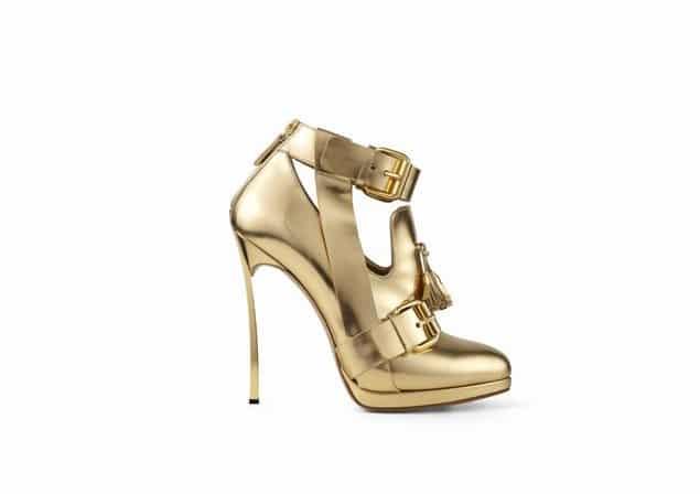 scarpe Casadei dorate a/i 2013 2014