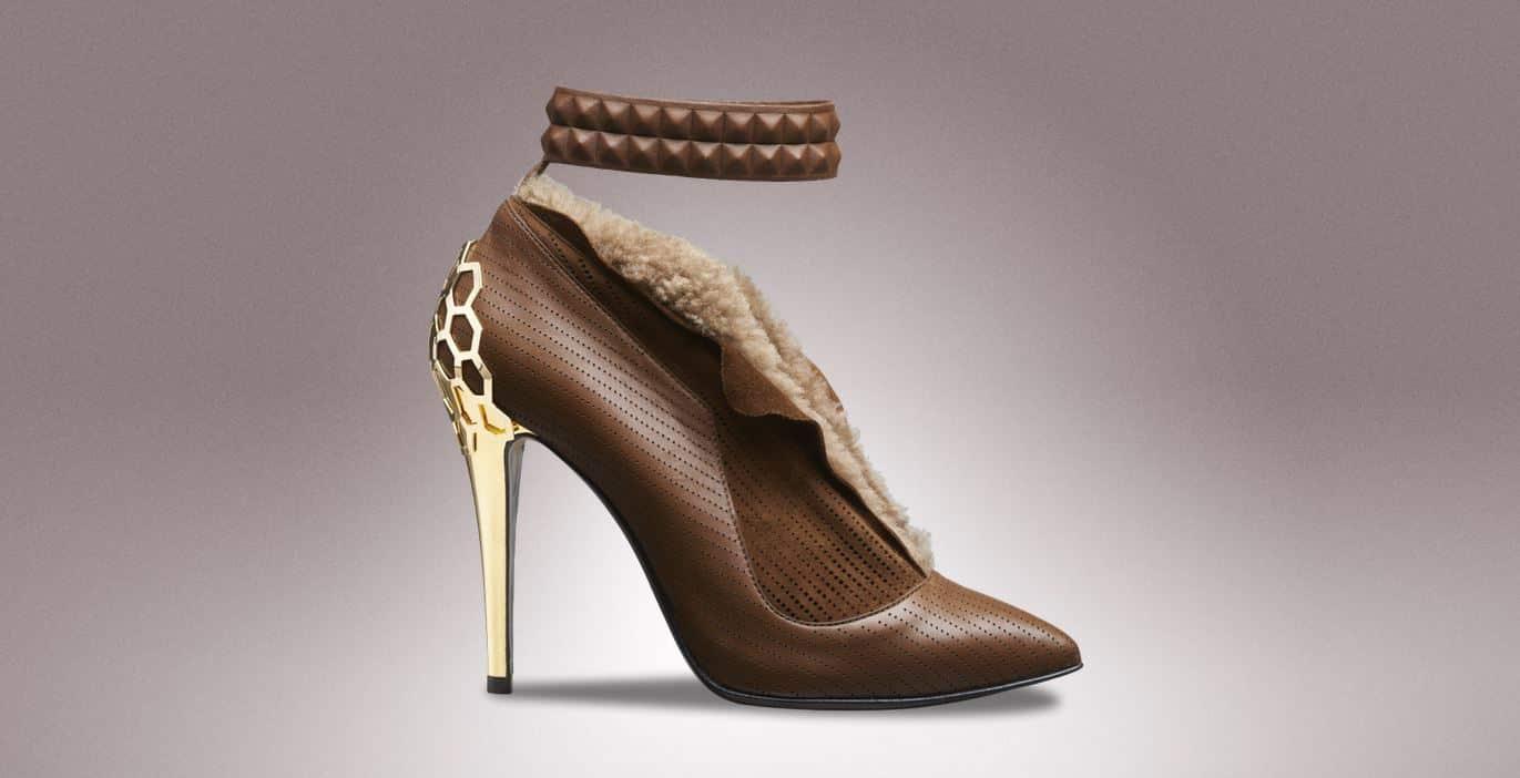 scarpe Fendi tacco dorato a/i 2013 2014