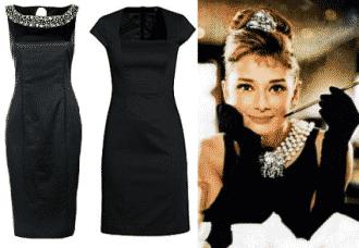 Come vestirsi a Capodanno, tubino nero sullo stile di Audrey Hepburne