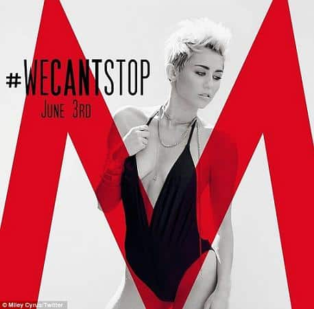 Miley Cyrus, We can't stop cover