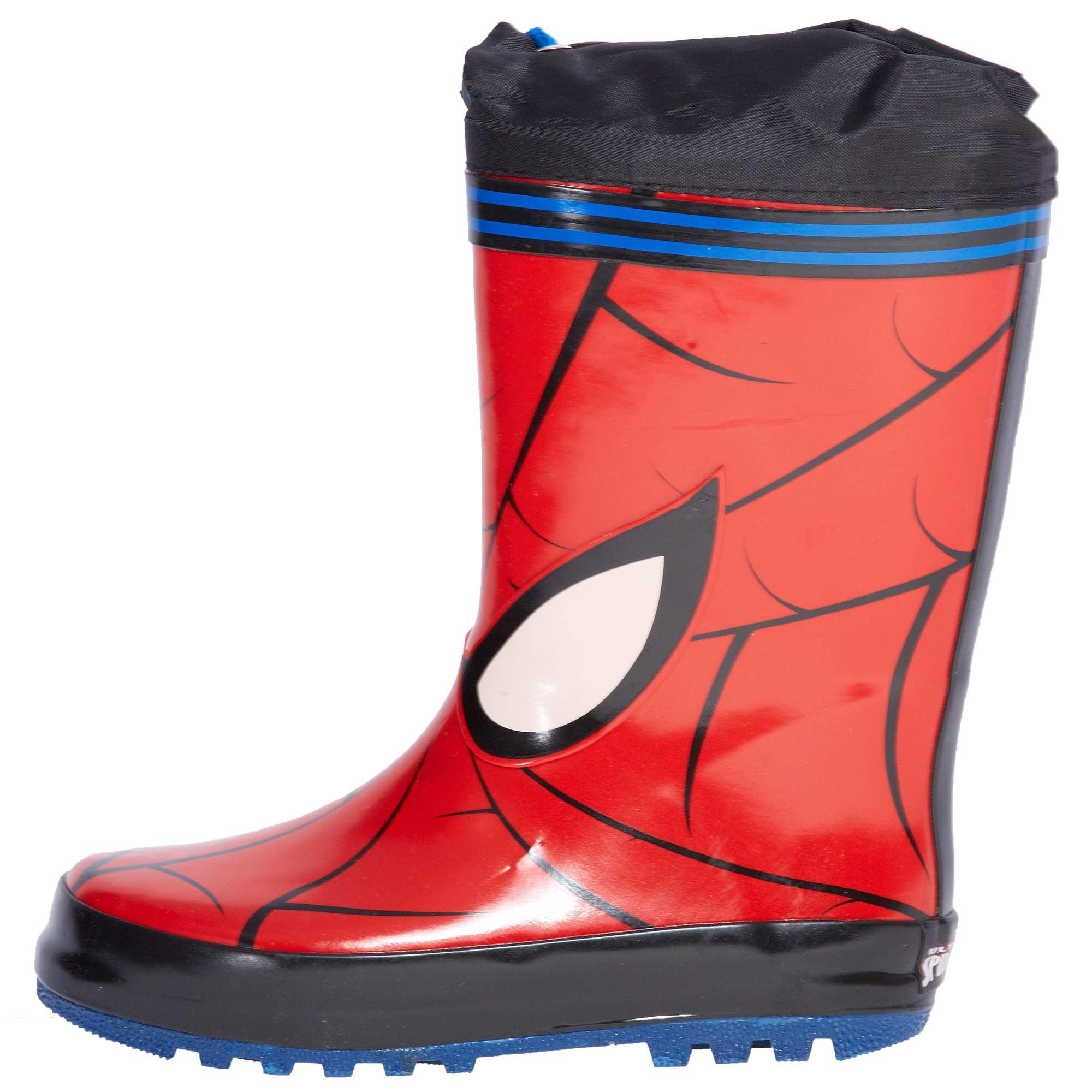stivali pioggia bambino kiabi spiderman 16,99 euro