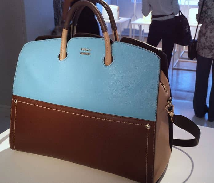 2014 Furla primavera estate azzurro marrone