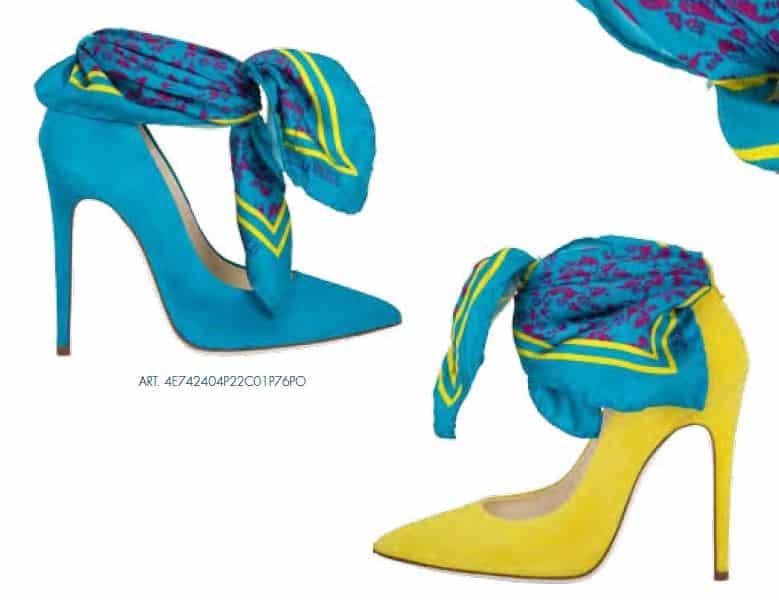 catalogo Loriblu scarpe primavera estate 2014 decollete foulard fluo