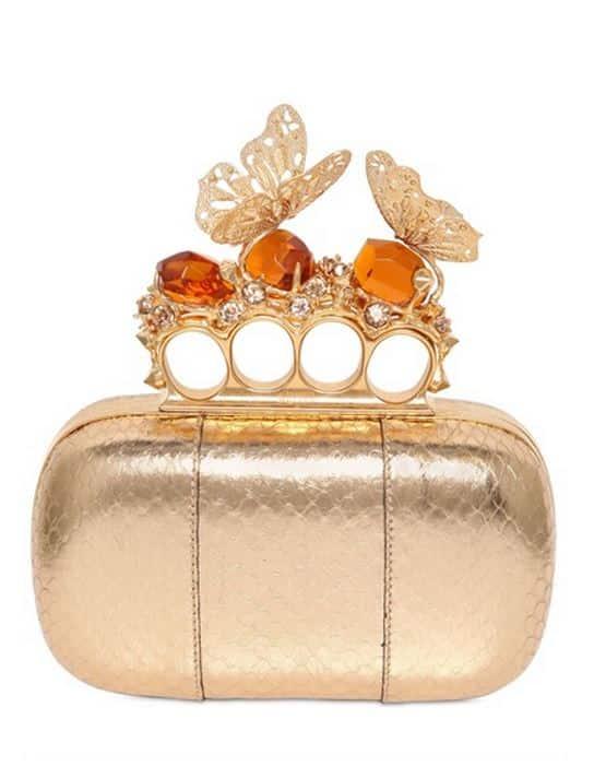 collezione borse Alexander McQueen pe 2014 clutch