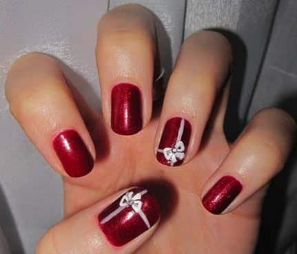 decorazione unghie Natale 2013 rosso