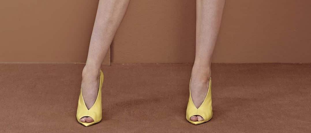 scarpe gialle Elisabetta Franchi 2014