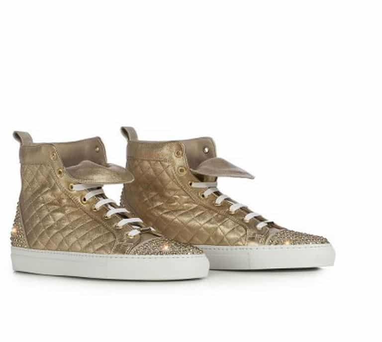 sneakers dorate Le Silla 2014