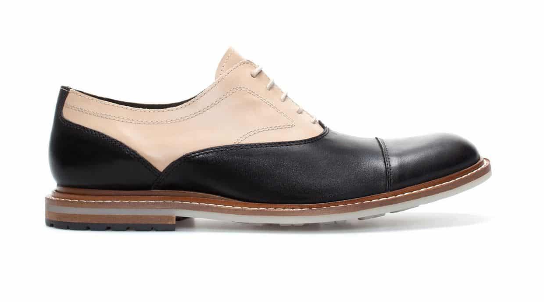 Zara scarpe uomo primavera estate 2014 stringata bicolor