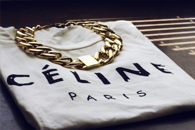 Celine tee, maglia con logo