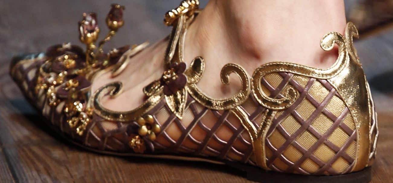 Dolce E Gabbana Scarpe Oro