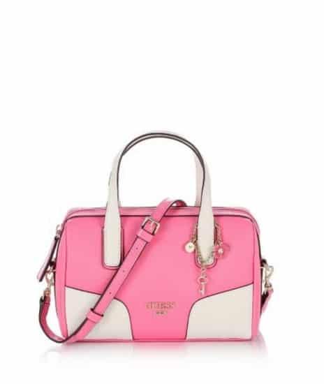 bianco con manici rosa bauletti guess femminili collezione