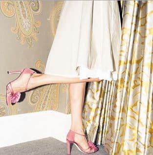 Sarah Jessica Parker per Manolo Blahnik rosa