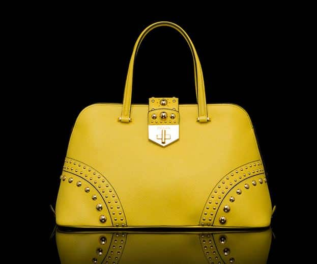 borse Prada 2014 bauletto giallo