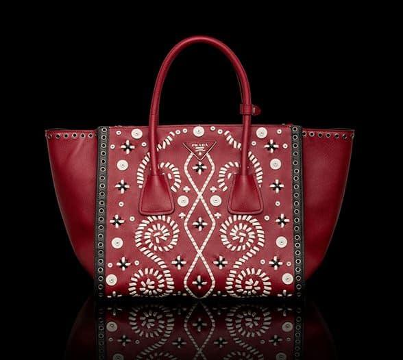 borse Prada 2014 shopping ricami